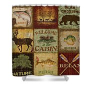 Call Of The Wilderness Shower Curtain by Jean Plout