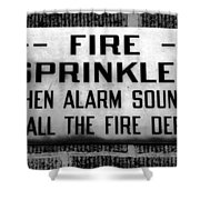 Call The Fire Dept Shower Curtain