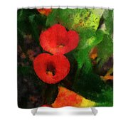 Calla Lilies Photo Art 03 Shower Curtain by Thomas Woolworth