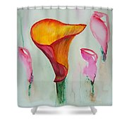 Calla Lilly Shower Curtain