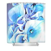 Calla Lilly So Soft Lilac And Blue Shower Curtain