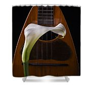 Calla Lily And Mandolin Shower Curtain