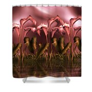 Calla Lily Island Shower Curtain