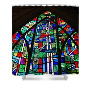 Callaway Gardens Chapel Stained Glass Shower Curtain