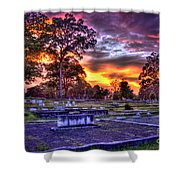 Callaway Graves At Sunset Shower Curtain