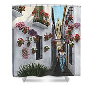 Calleje De Las Flores Cordoba Spain Shower Curtain