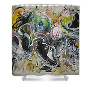 Calligraphy Abstract 03 Shower Curtain