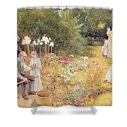 Calling The Bees Shower Curtain by Edward Killingworth Johnson
