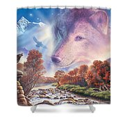 Calling To The Pack Shower Curtain