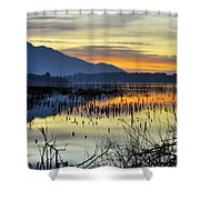 Calm At The Lake Shower Curtain
