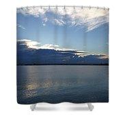 Calm Blue Bay Shower Curtain