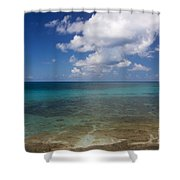 Calm Caribbean Ocean Shower Curtain