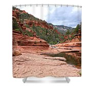 Calm Day At Slide Rock Shower Curtain
