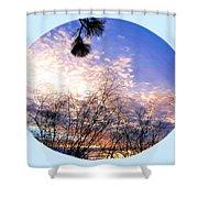 Calm December Sunset Shower Curtain