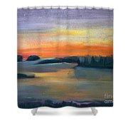 Calm Evening Shower Curtain