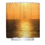 Calm Sunset At Sea Shower Curtain