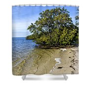 Calm Waters On The Gulf Shower Curtain