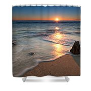 Calm Winter Waves Shower Curtain