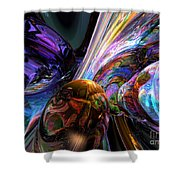 Calming Madness Abstract Shower Curtain