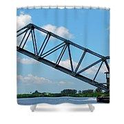 Caloosahatchee Train Draw Bridge Shower Curtain
