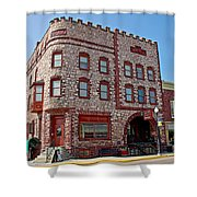Calumet Hotel-1887 In Pipestone-minnesota  Shower Curtain