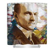 Calvin Coolidge Shower Curtain