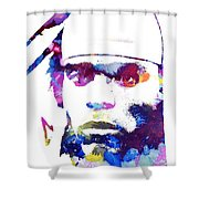 Cam Newton - Doc Braham - All Rights Reserved Shower Curtain