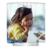 Cambodian Girl 01 Shower Curtain