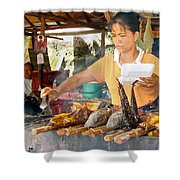 Cambodian Life 09 Shower Curtain