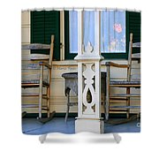 Cambria Squibb House Rocking Chairs Shower Curtain