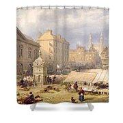 Cambridge Market Place, 1841 Shower Curtain
