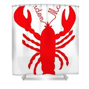 Camden Maine Lobster With Feelers 20150207 Shower Curtain