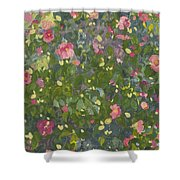 Camellia In Flower Shower Curtain