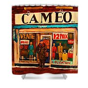 Cameo Dress Shop Shower Curtain