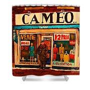 Cameo Dress Shop Shower Curtain