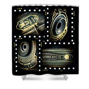 Camera Collage Shower Curtain