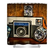 Camera - Kodak Instamatic Shower Curtain