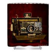 Camera - Polaroid  The Reporter Se Shower Curtain