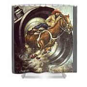 Camera Rodeo - Western Art Shower Curtain