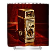 Camera - Vintage Bell And Howell Sun Dial 319 Shower Curtain