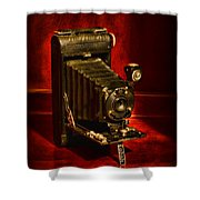 Camera - Vintage Kodak Pocket Camera Shower Curtain