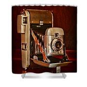 Camera - Vintage Polaroid Land Camera 80 Shower Curtain