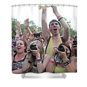 Cameras In The Crowd Shower Curtain