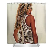 Cameron Diaz Painting Shower Curtain