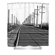 Cameron Prairie Road Shower Curtain