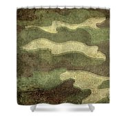 Camo Distressed Hard Version Shower Curtain