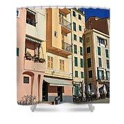 Camogli - Homes And Promenade Shower Curtain