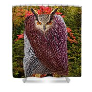 Camouflaged Owl Shower Curtain