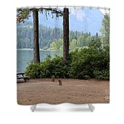 Camp By The Lake Shower Curtain