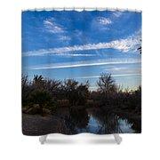 Camp Davis River Shower Curtain